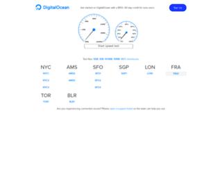 speedtest-fra1.digitalocean.com screenshot