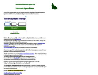 speedtest.raketforskning.com screenshot