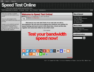 speedtestonline.com screenshot