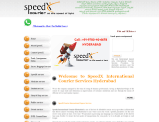 speedxcourier.com screenshot