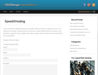 speedxhosting.com screenshot