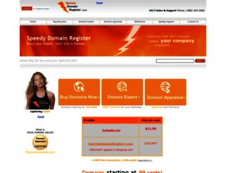 speedydomainregister.com screenshot