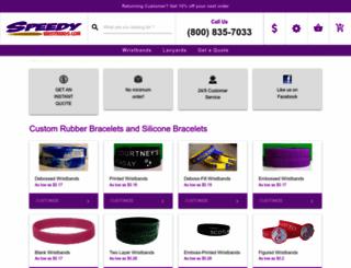 speedywristbands.com screenshot