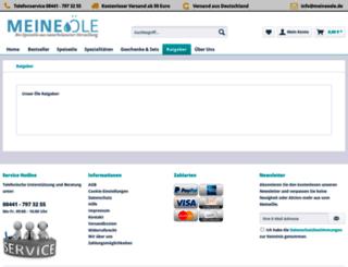 speiseoele.net screenshot