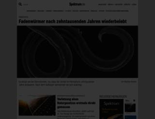 spektrum.de screenshot