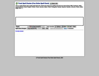 spellcheck.iblogbox.com screenshot