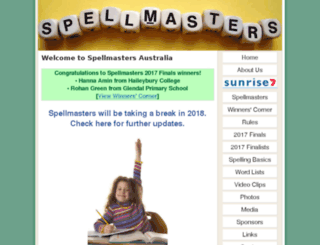 spellmasters.com.au screenshot