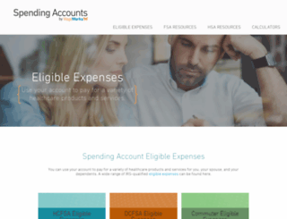 spendingaccounts.info screenshot