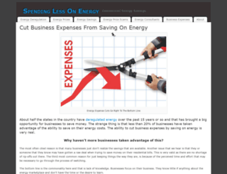 spendinglessonenergy.com screenshot