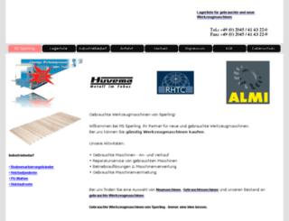 sperling-werkzeugmaschinen.de screenshot