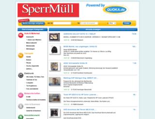 sperrmuell.de screenshot