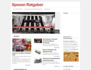 spesen-ratgeber.de screenshot