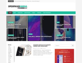 spesifikasiharga.net screenshot