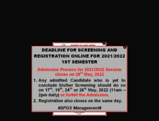 spgs.unilag.edu.ng screenshot