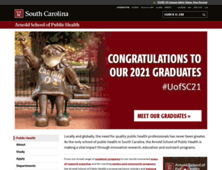 sph.sc.edu screenshot