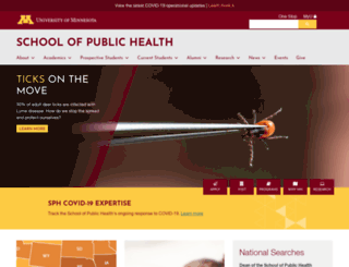 sph.umn.edu screenshot