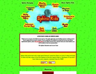 sphinxkids.org screenshot