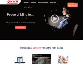 spicherssecurity.com screenshot