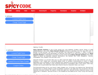 spicycode.in screenshot