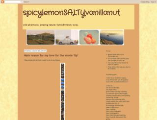 spicylemonsaltyvanillanut.blogspot.com screenshot