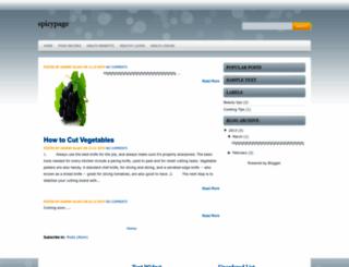 spicypage.blogspot.com screenshot