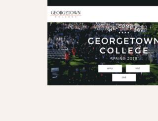 spider.georgetowncollege.edu screenshot
