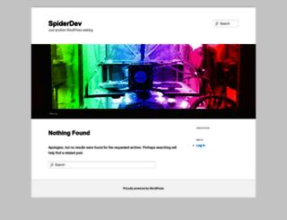spiderdev.com screenshot