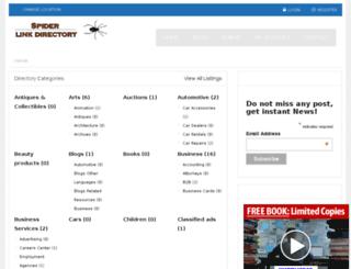 spiderlinkdirectory.com screenshot