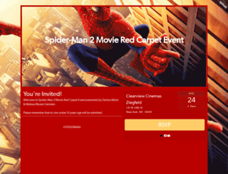 spidermanmamarazzi.splashthat.com screenshot