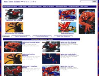 spidermanonlinegames.net screenshot