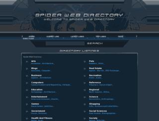 spiderwebdirectory.com screenshot