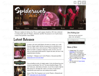 spiderwebsoftware.com screenshot