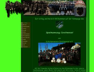 spielmannszug-carolinensiel.de screenshot