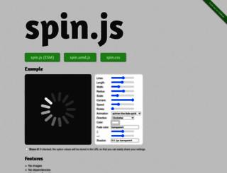 spin.js.org screenshot