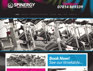 spinclassestorquay.co.uk screenshot