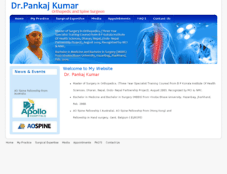 spinesurgeonpankajkumar.com screenshot