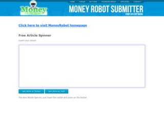 spinner.moneyrobot.com screenshot