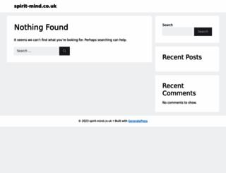 spirit-mind.co.uk screenshot