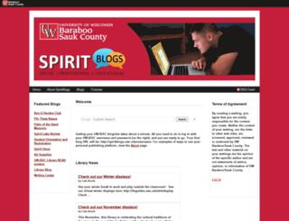 spiritblogs.uwc.edu screenshot