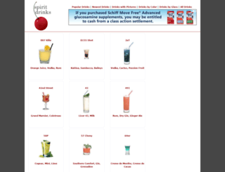 spiritdrinks.com screenshot