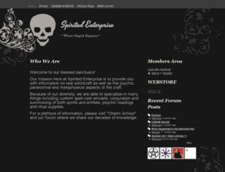 spiritedenterprise.com screenshot