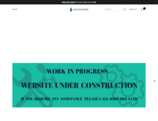 spiritedwines.co.uk screenshot