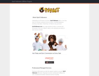 spirithalloween.affiliatetechnology.com screenshot