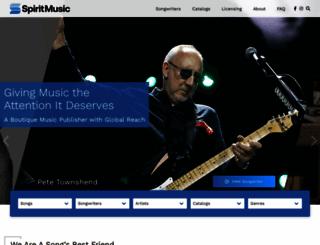 spiritmusicgroup.com screenshot