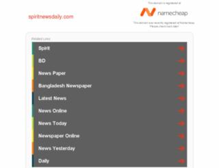 spiritnewsdaily.com screenshot