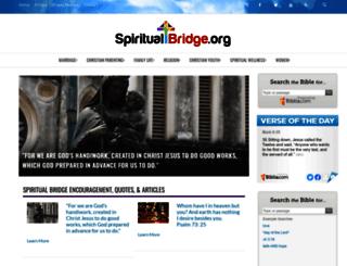 spiritualbridge.org screenshot