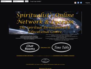 spiritualistsonline.com screenshot