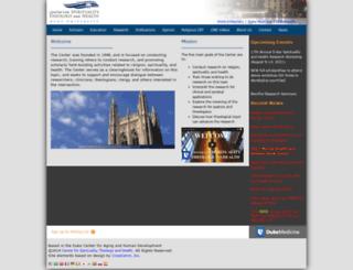 spiritualityandhealth.duke.edu screenshot
