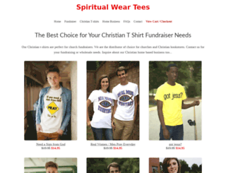 spiritualweartees.com screenshot