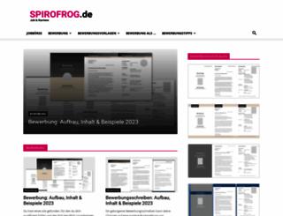 spirofrog.de screenshot